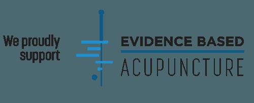 logo evidence based acupuncture white